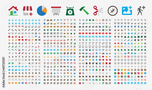 800 Premium Icons. Round corners. Flat colors. Pixel Perfect.