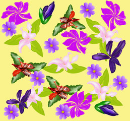 floral ornament background.vector