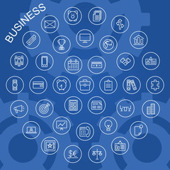 Vector Line Icons - Business