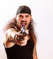 Rocker Gewalt Waffen und Krieg