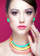 Attractive young woman, beauty and  fashion concept