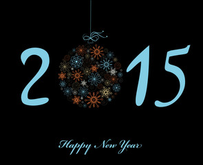 Happy New Year 2015 greeting card. Vector