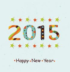 Stylized Happy New Year 2015 background