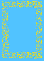 PAINTING - YELLOW-BLUE FRAME
