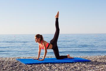 Yoga at the sea