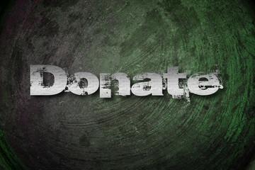 Donate Concept