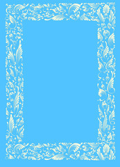 PAINTING - WHITE-BLUE FRAME