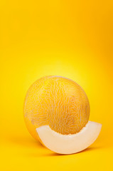 melon on a yellow
