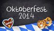 Kreidetafel mit Oktoberfest 2014