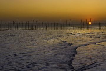 Fishing Village Sunset