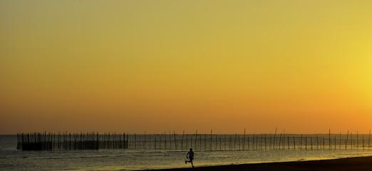 Fiery Sunset Beach