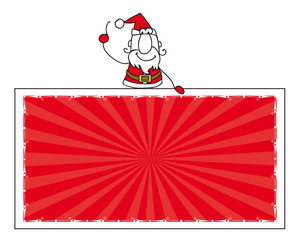 Santa claus and the banner