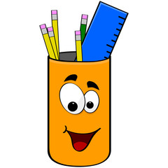 Can of pencils