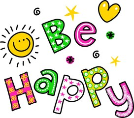 Be Happy Clipart Text