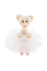 White toy pig in a tutu