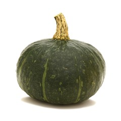Single Buttercup squash over a white background