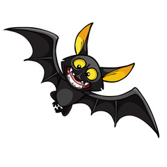 cartoon smiling bat