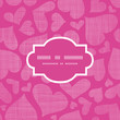 Pink lace hearts textile texture frame seamless pattern