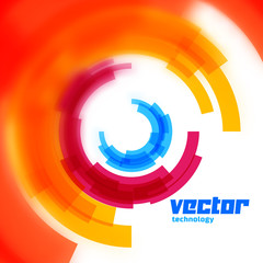 Vector circles card with blurred edge