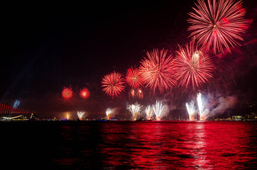 Fireworks in İstanbul