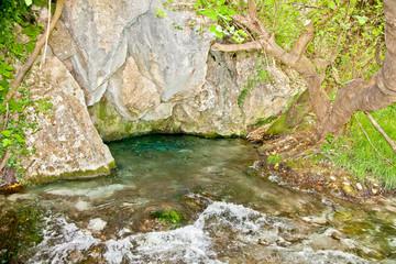 Akilles's springs in gorge Acheron  river , Greece.