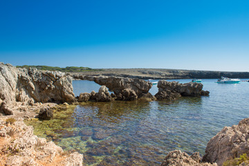 a wonderful cliff in a tourist resort in the Mediterranean
