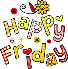 Happy Friday Cartoon Text Clipart