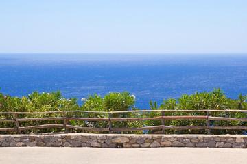 promenade with beautiful sea view in Greece
