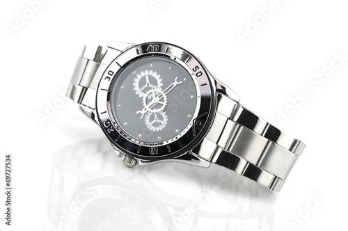 Leinwandbild Motiv watch isolated on a white background
