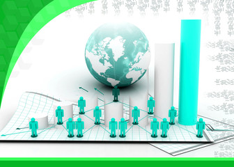 Business Network in abstract design