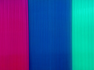 Background with multicolored polycarbonate plates