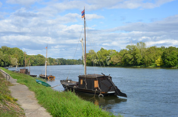traditonal Boats on the Loire