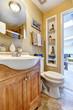 Bathroom vanity cabinet with mirror