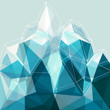 Fototapety Abstract geometry blue mountain