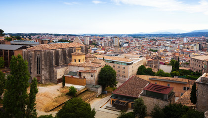 Top view of medieval Girona