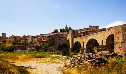 View of antique city. Besalu
