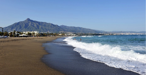 Beach in Marbella, Costa del Sol, Malaga, Spain