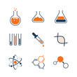 Chemistry simple vector icon set - 69729565