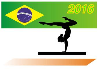 Sportfest 2016 in Rio de Janeiro - Brasilien - Turngerät Barren