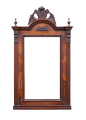 Vintage mirror frame. Picture with clipping path.