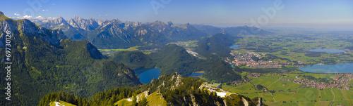 canvas print picture Panorama Landschaft in Bayern im Allgäu