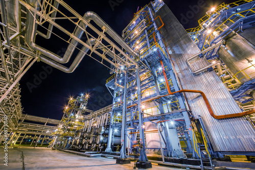Foto op Canvas Industrial geb. refinery