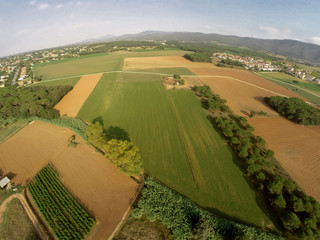 rural aerial view