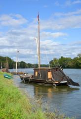 traditionelle Boote auf der Loire