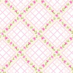 Vintage flower pattern.
