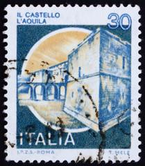 Postage stamp Italy 1981 Castle Aquila