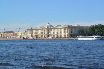 St. Petersburg.  View of Universitetskaya Embankment and Academy