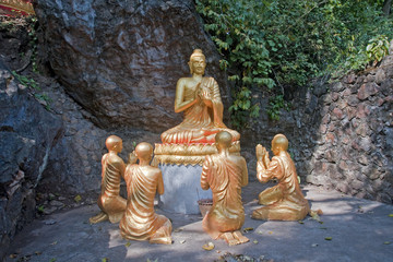 Buddha and his disciples in Luang Prabang