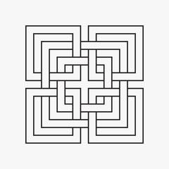 Geometric symbol, squares, connection, element