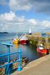 canvas print picture - Hafen mit Leuchtturm